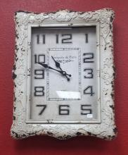 Square White Clock