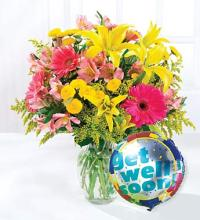 Get Well Balloon and Bouquet