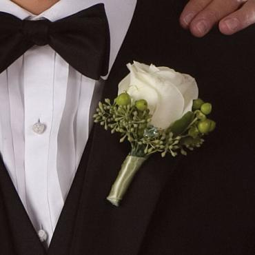 Large Rose Boutonniere