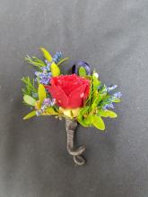 One Spray-Rose Boutonniere