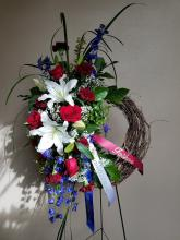 The Red, White, and Blue Wreath