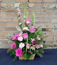 Exquisite Pink Garden Basket