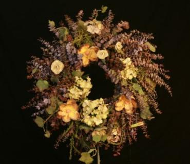 Burgundy Silk Wreath